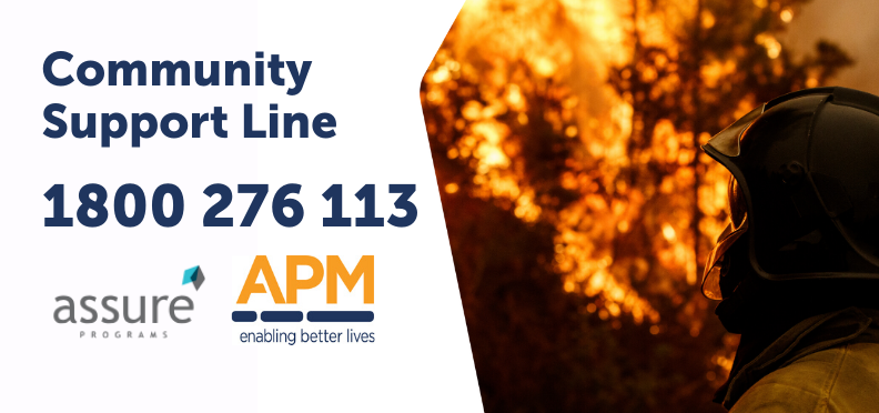 Support line for people affected by bushfires 1800 276 113
