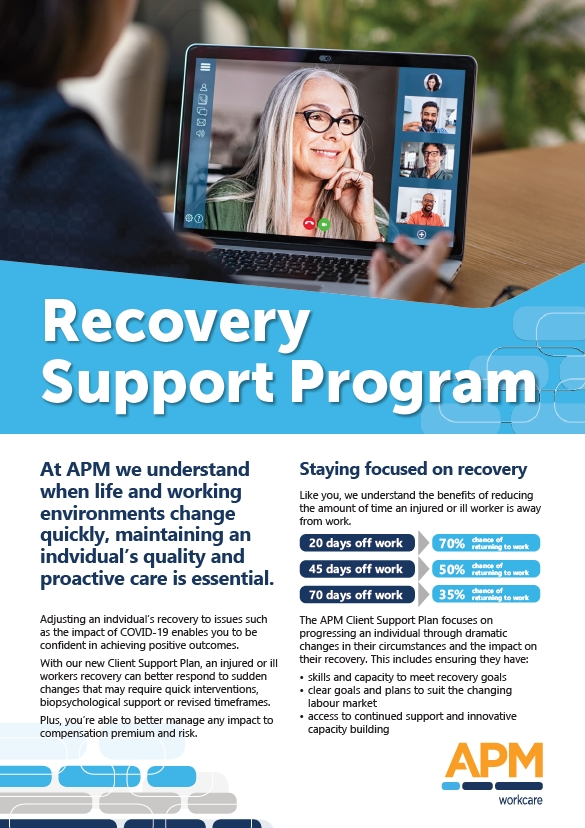 Download our Recovery Support Program factsheet image