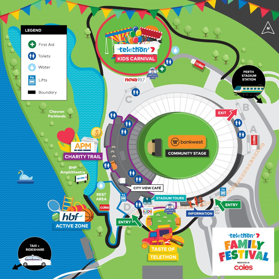 Telethon Family Festival map