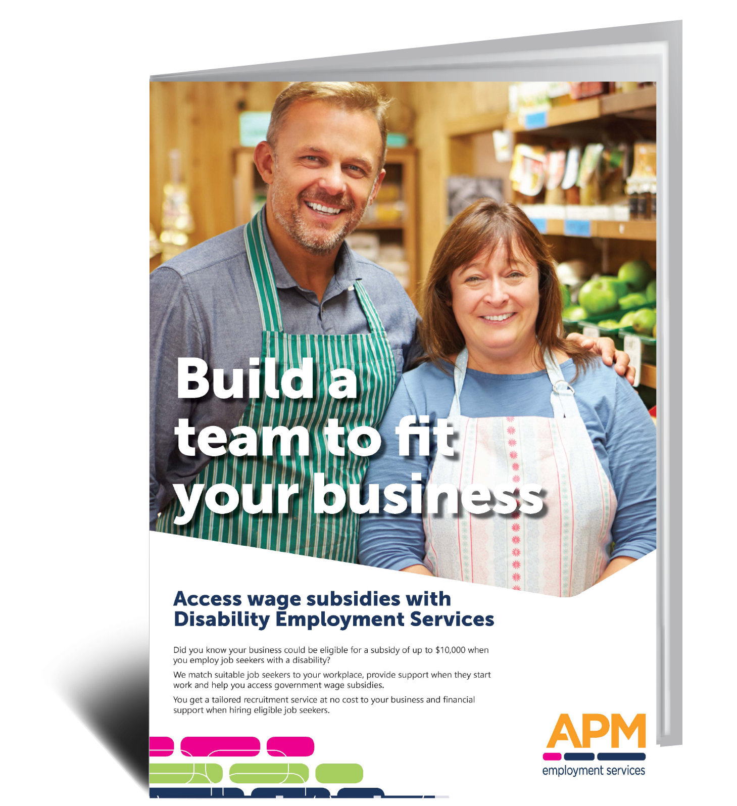 Want to know more? Download your guides to Disability Employment Services wage subsidies when hiring your next employee with APM image